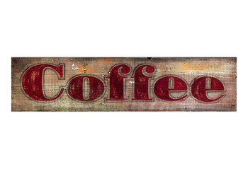 Custom Coffee Vintage Style Wooden Sign