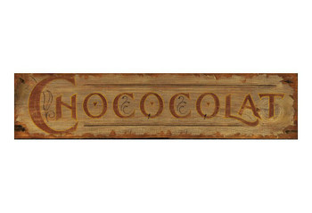 Custom Chocolate Vintage Style Wooden Sign