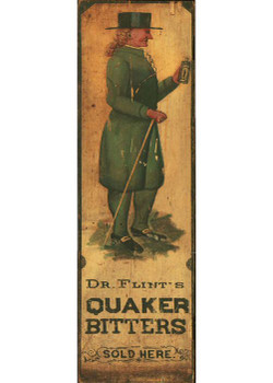 Custom Quaker Bitters Vintage Style Wooden Sign