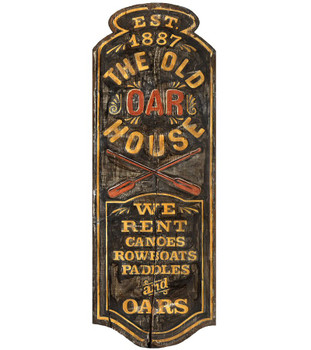 Custom The Old Oar House Vintage Style Wooden Sign