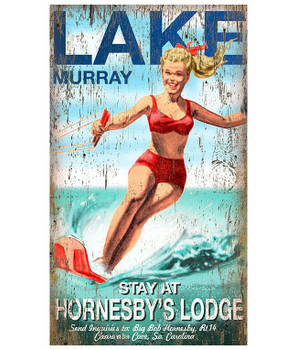 Custom Lake Murray Vintage Style Wooden Sign