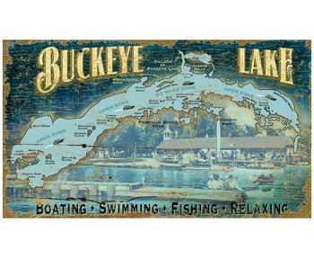 Custom Buckeye Lake Vintage Style Wooden Sign