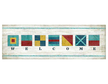 Nautical Welcome Vintage Style Wooden Sign