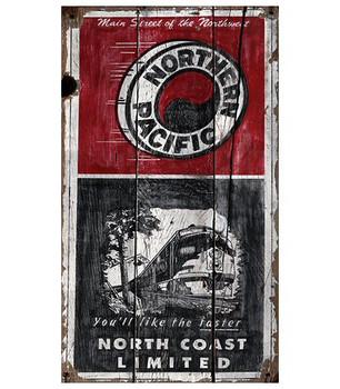 Custom North Coast Railway Vintage Style Wooden Sign