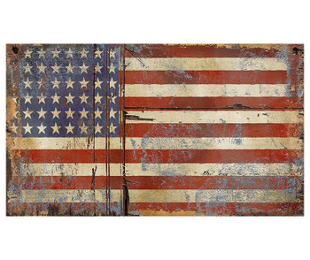 Custom Old Glory American Flag Vintage Style Wooden Sign