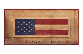 Custom Flag Liberty 1814 Vintage Style Wooden Sign
