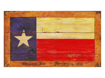 Custom Texas Flag Vintage Style Wooden Sign