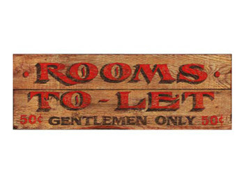 Custom Gentlemen Rooms Vintage Style Wooden Sign