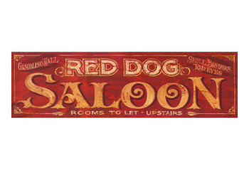 Custom Red Dog Saloon Vintage Style Wooden Sign