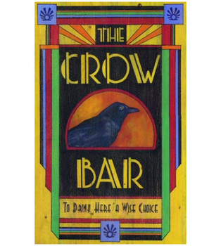 Custom Crow Bar Vintage Style Wooden Sign