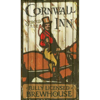 Custom Cornwall Inn Vintage Style Wooden Sign