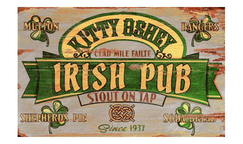 Custom Irish Stout Vintage Style Wooden Sign
