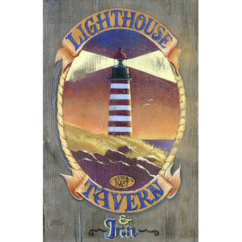 Custom Lighthouse Tavern Vintage Style Wooden Sign