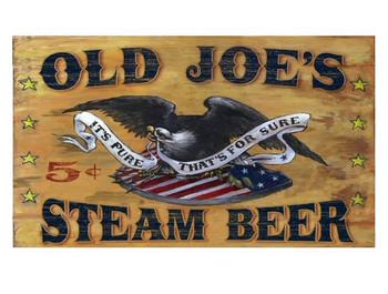 Custom Old Joes Steam Beer Vintage Style Wooden Sign