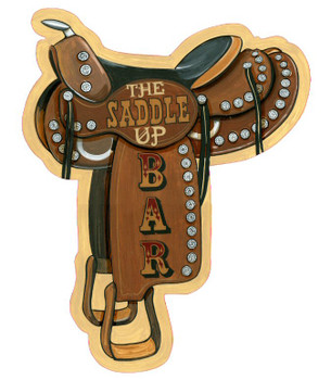 Custom The Saddle Up Bar Vintage Style Wooden Sign