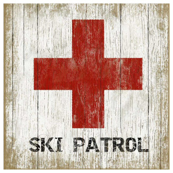 Custom Ski Patrol Vintage Style Wooden Sign
