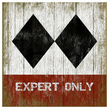 Custom Expert Only Ski Vintage Style Wooden Sign