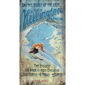 Custom Killington Vermont Vintage Style Wooden Sign