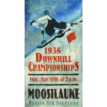 Custom Moosilauke Downhill Championships Vintage Style Wooden Sign