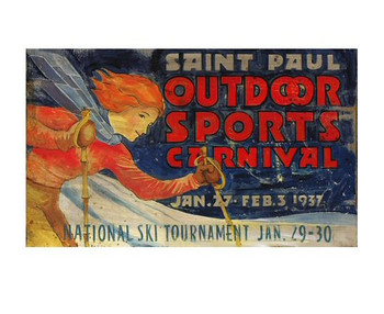 Custom Saint Paul Outdoor Sports Carnival Vintage Style Wooden Sign