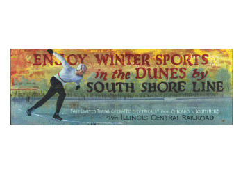 Custom Winter Sports in the Dunes Vintage Style Wooden Sign