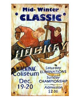 Custom Hockey Vintage Style Wooden Sign