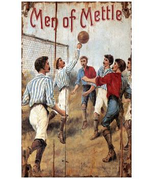 Custom Men of Mettle Sports Vintage Style Wooden Sign