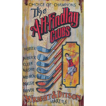 Custom The A H Findlay Clubs Vintage Style Wooden Sign