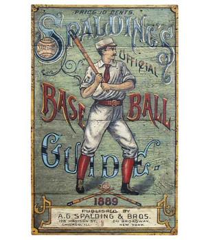 Custom Spalding's Baseball Guide Vintage Style Wooden Sign