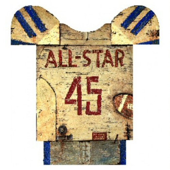 Custom Football Jersey Vintage Style Wooden Sign
