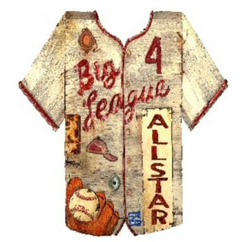 Custom Baseball Jersey Vintage Style Wooden Sign