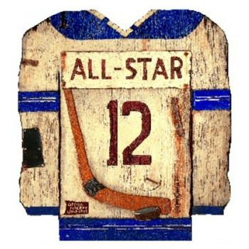 Custom Hockey Jersey Vintage Style Wooden Sign