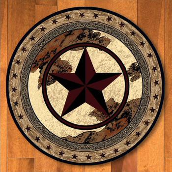 8' Ranger Hideout Western Star Round Rug