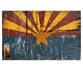 Arizona Flag Vintage Style Wooden Sign