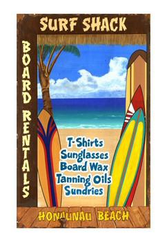 Custom Surf Shack Vintage Style Wooden Sign