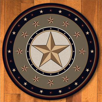 8' Sage Star Green Western Round Rug
