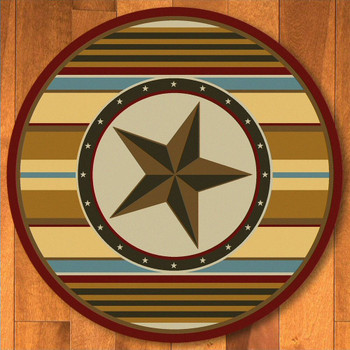 8' Hacienda Star Maize Western Round Rug