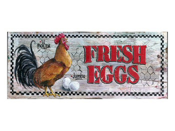 Custom Fresh Eggs Vintage Style Wooden Sign