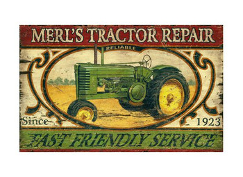 Custom Tractor Vintage Style Wooden Sign