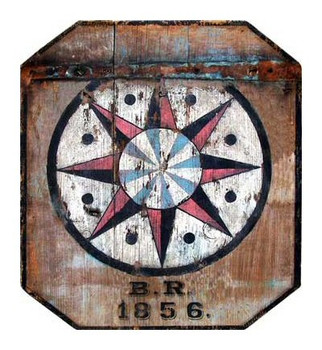 Custom Pennsylvania Barn BR 1856 Hex Vintage Style Wooden Sign
