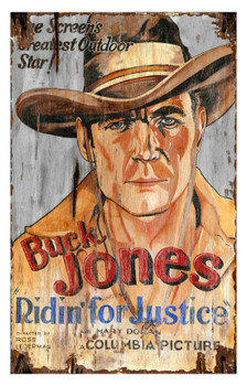Custom Buck Jones Vintage Style Wooden Sign