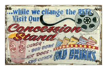 Custom Concession Stand Vintage Style Wooden Sign