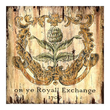 Custom Artichoke 1700 Royall Exchange Vintage Style Wooden Sign