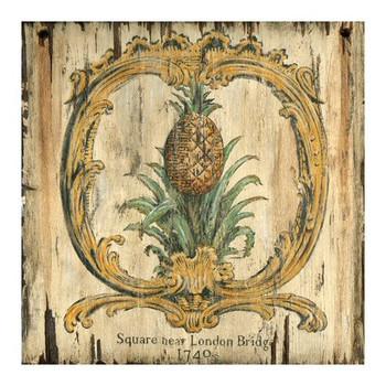 Custom Pineapple 1740 London Bridge Vintage Style Wooden Sign