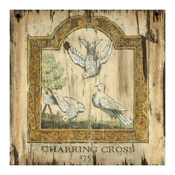 Custom Doves 1750 Charring Cross London Vintage Style Wood Sign