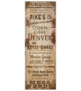 Custom Colorado Towns and Places Vintage Style Wooden Sign