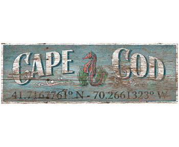 Custom Cape Cod Latitude Vintage Style Wooden Sign