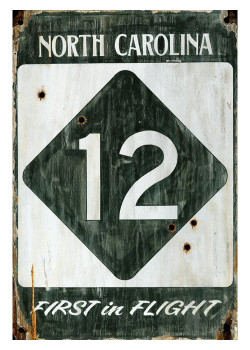 Custom Highway 12 North Carolina Vintage Style Wooden Sign