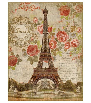 Dreaming of Paris Eiffel Tower Vintage Style Wooden Sign