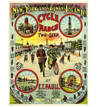 Custom Large Coney Island Cycle March Vintage Style Wooden Sign